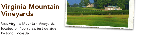 Virginia Mountain Vineyards - Visit Virginia Mountain Vineyards, located on 100 acres, just outside historic Fincastle.